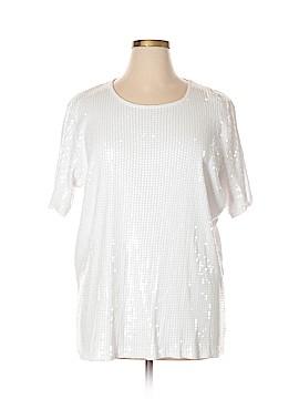 DG^2 by Diane Gilman Short Sleeve Blouse Size 1X (Plus)