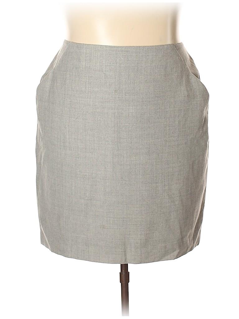 Jones New York Women Wool Skirt Size 18 (Plus)