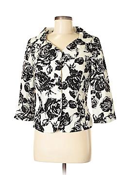 White House Black Market Silk Blazer Size 8
