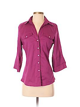 Sandra Ingrish Short Sleeve Button-Down Shirt Size XS
