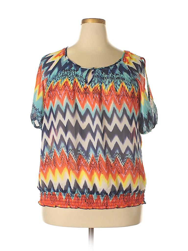 Unique Spectrum Women Sleeveless Blouse Size 2X (Plus)