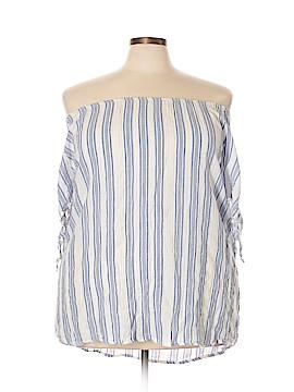 Como Black Short Sleeve Blouse Size 2X (Plus)