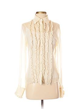 INC International Concepts Long Sleeve Silk Top Size 4