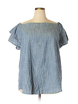 Denim 24/7 Short Sleeve Blouse Size 22 (Plus)
