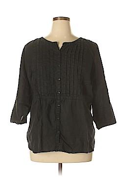 Lands' End 3/4 Sleeve Blouse Size 1X (Plus)