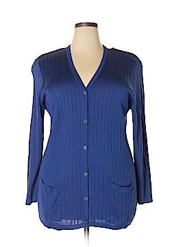 Rena Rowan Silk Cardigan Size 2X (Plus)