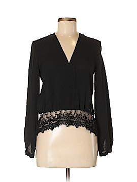 Yigal Azrouël New York Long Sleeve Silk Top Size Med (2)