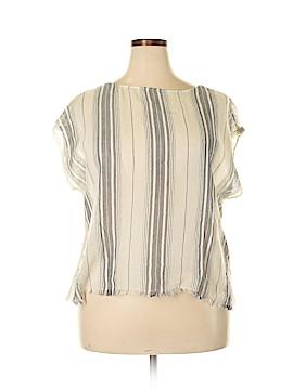 Lou & Grey Short Sleeve Blouse Size L