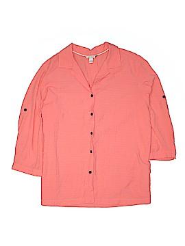 White Stag 3/4 Sleeve Button-Down Shirt Size 20 (Plus)