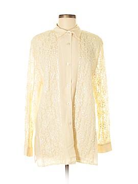 Diane Gilman Long Sleeve Silk Top Size M