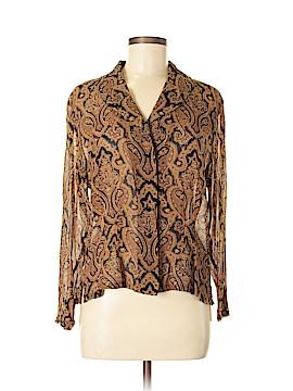 Dana Buchman Long Sleeve Silk Top Size 10
