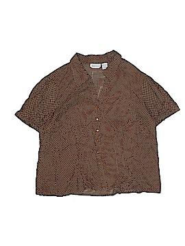 Apparenza Short Sleeve Button-Down Shirt Size 2X (Plus)
