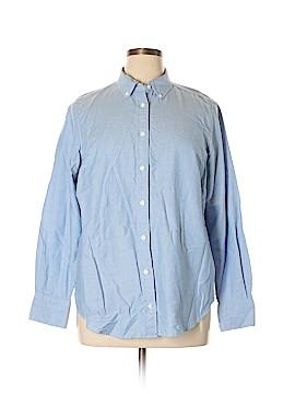 Lands' End Long Sleeve Button-Down Shirt Size 0X (Plus)