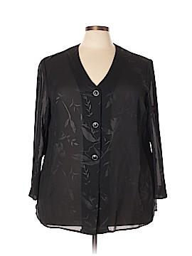Leslie Fay Long Sleeve Blouse Size 22 (Plus)