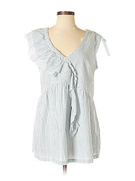 Left of Center Short Sleeve Blouse Size S