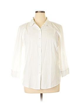 L.L.Bean 3/4 Sleeve Button-Down Shirt Size XL