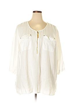 Ellen Tracy 3/4 Sleeve Blouse Size 3X (Plus)
