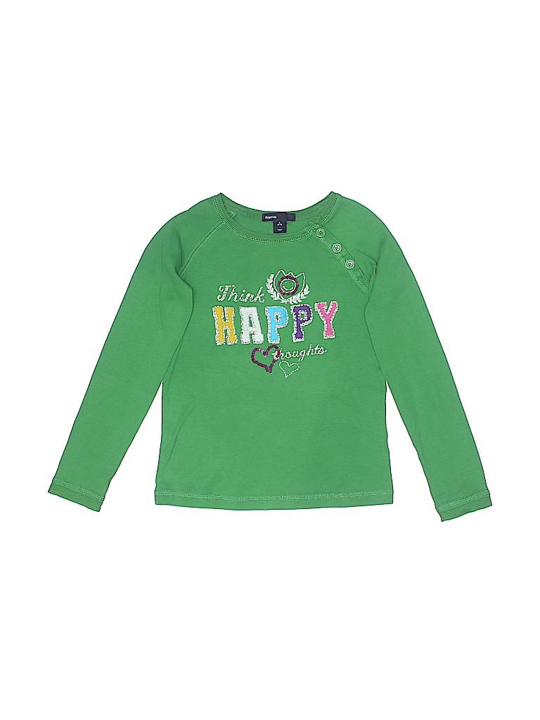 c63fb9b67990 Gap Kids 100% Cotton Graphic Green Long Sleeve T-Shirt Size 6 - 7 ...