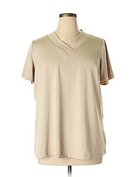 Susan Graver Short Sleeve Top Size 1X (Plus)