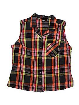 Erika Sleeveless Button-Down Shirt Size 1X (Plus)