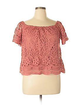 Haute Monde Short Sleeve Blouse Size XL