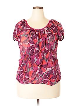 Worthington Short Sleeve Blouse Size XXL (Petite)