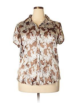 Antilia Femme Short Sleeve Blouse Size 2X (Plus)