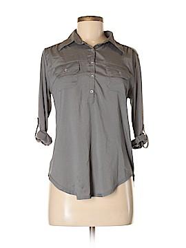 Eyeshadow 3/4 Sleeve Button-Down Shirt Size M