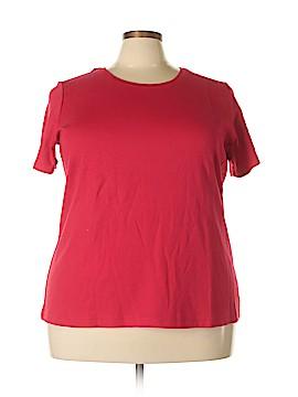 Basic Editions Short Sleeve T-Shirt Size 2X (Plus)