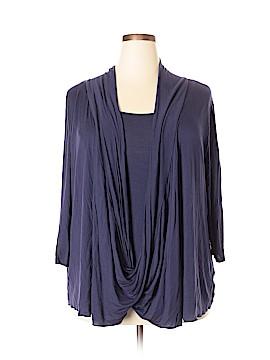 Rhonda Shear 3/4 Sleeve Top Size 1X (Plus)