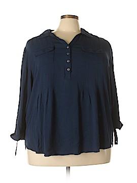 Cocomo 3/4 Sleeve Button-Down Shirt Size 3X (Plus)