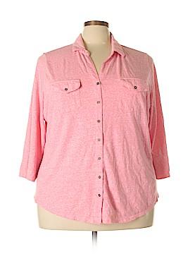 SONOMA life + style 3/4 Sleeve Button-Down Shirt Size 3X (Plus)