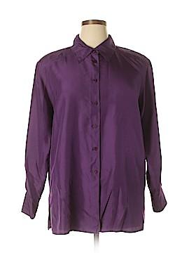 Elisabeth by Liz Claiborne Long Sleeve Silk Top Size 14