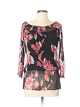 INC International Concepts 3/4 Sleeve Silk Top Size 10