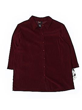 R&K Originals Short Sleeve Button-Down Shirt Size 18 (Plus)