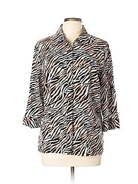 Karen Scott Long Sleeve Button-Down Shirt Size L