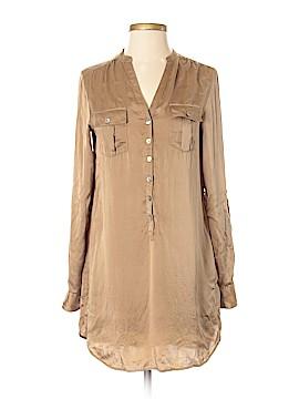 H&M Long Sleeve Silk Top Size 2