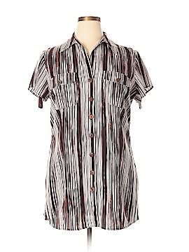 Fred David Short Sleeve Blouse Size 14 - 16W