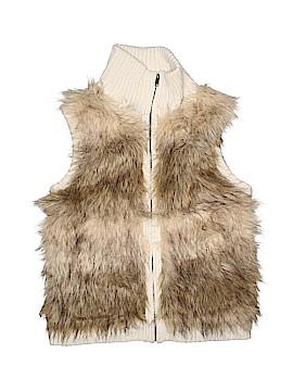 Justice Faux Fur Vest Size 20