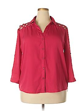 Indulge 3/4 Sleeve Blouse Size 2X (Plus)