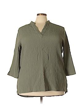 Norm Thompson 3/4 Sleeve Blouse Size 3X (Plus)