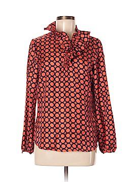 Elizabeth McKay Long Sleeve Silk Top Size 6