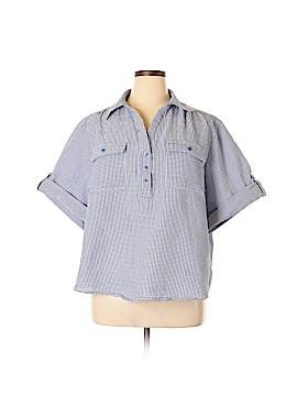 Cathy Daniels Short Sleeve Button-Down Shirt Size 3X (Plus)