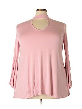 Alison Andrews 3/4 Sleeve Top Size 2X (Plus)