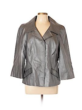W by Worth Leather Jacket Size 16