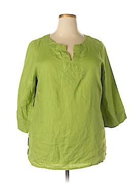 Carole Little Long Sleeve Blouse Size 1X (Plus)