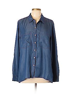 MICHAEL Michael Kors Long Sleeve Button-Down Shirt Size 14
