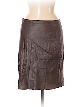 AKRIS Leather Skirt Size 8