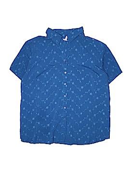 Fred David Short Sleeve Blouse Size 2X (Plus)