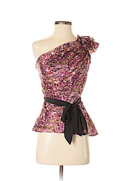 Bebe Short Sleeve Silk Top Size XXS